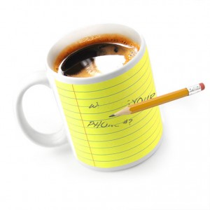 New Personalized Merchandise - Memo Pad Mugs